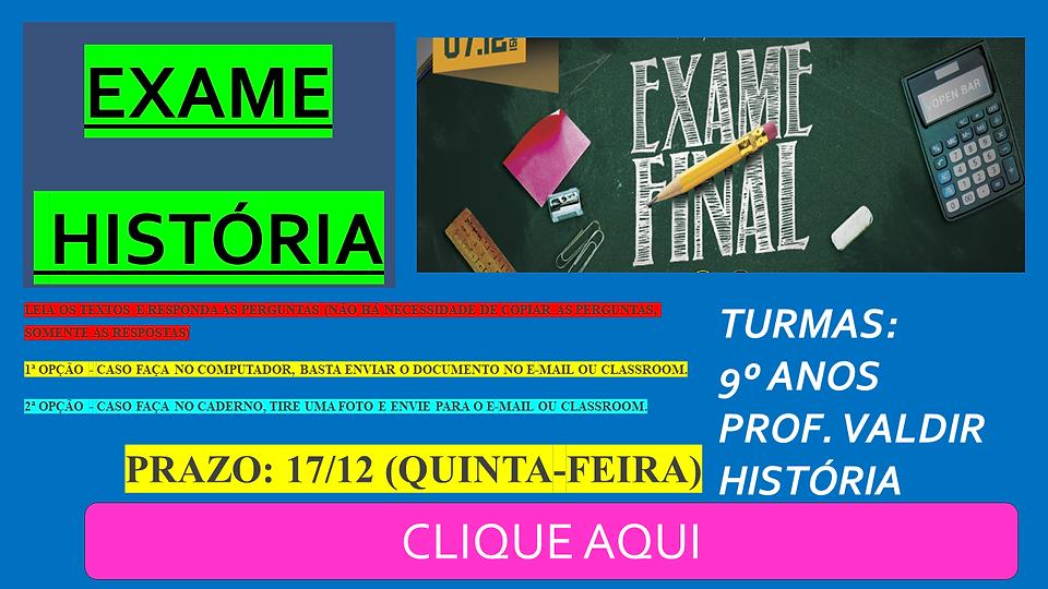 LINK PARA O SITE - EXAME FINAL - 9º ANOS