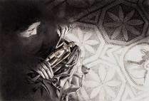 LA BAMBOLA DI CREPEREIA - Matite e polvere di grafite