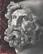 Le statue rivivono - ULISSE da scultura di Sperlonga - Grafite, gesso acrilico e matite colorate