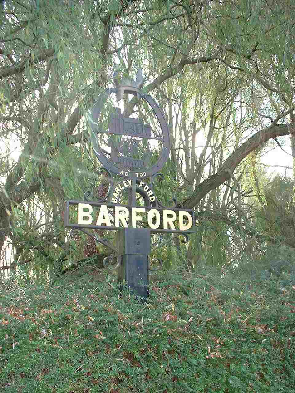 barford sign close up