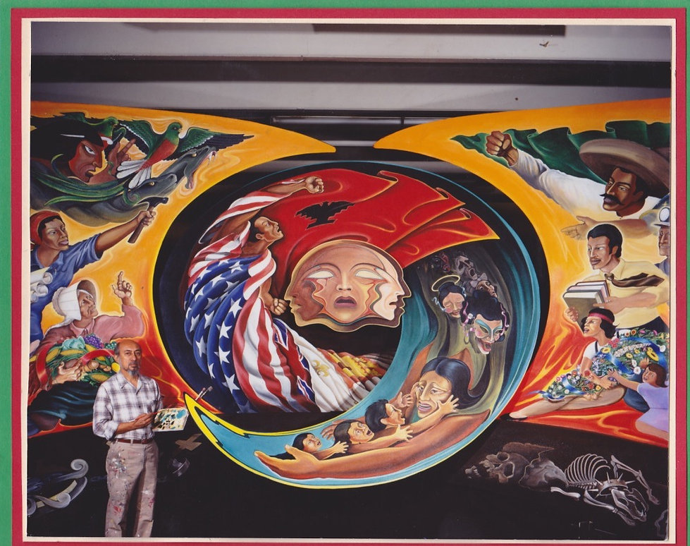 Leo Tanguma and his Mural The Torch of Quetzalcoatl
