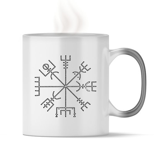 Vegvisir - Runen - Kompass - Viking   - Magic - Tasse