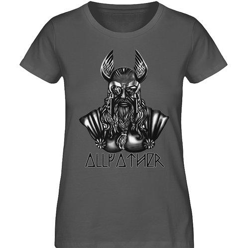 Odin - Vikings - Runen - Design Schwarz  - Damen Premium Organic Shirt