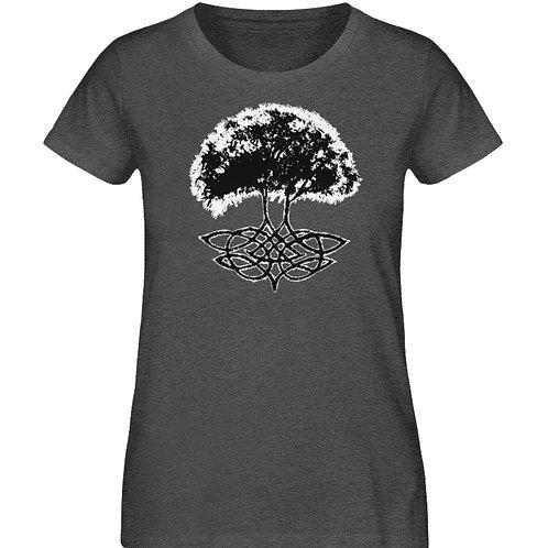 Yggdrasil - Die Weltenesche  - Damen Organic Melange Shirt
