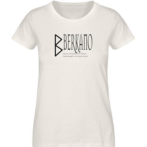 Rune - Berkano  - Schriftzug schwarz  - Damen Premium Organic Shirt