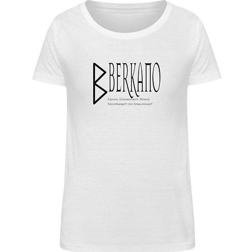 Rune - Berkano  - Schriftzug schwarz  - Damen Organic Shirt