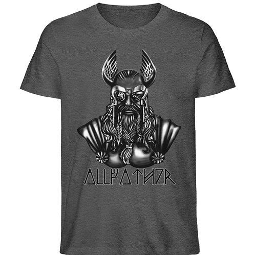 Odin - Vikings - Runen - Design Schwarz  - Herren Organic Melange Shirt