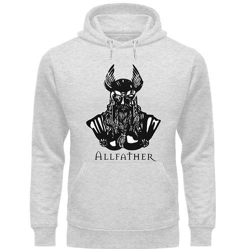 Odin - Viking - Design Schwarz  - Unisex Organic Hoodie