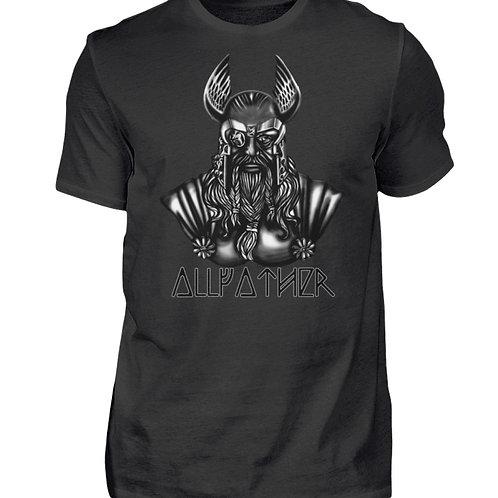 Odin - Vikings - Runen - Design Schwarz  - Herren Shirt