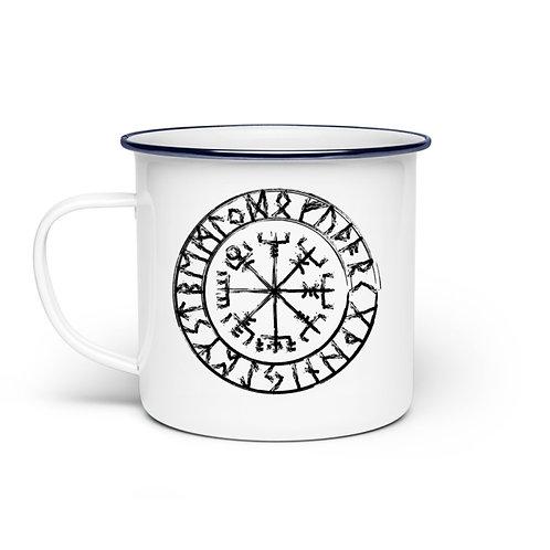 Vegvisir - Viking - Kompass  - Emaille Tasse