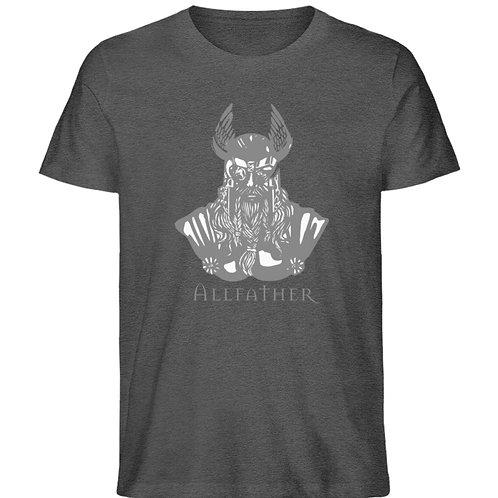 Odin - Viking - Design Grau  - Herren Organic Melange Shirt