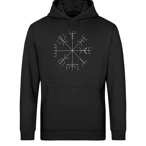 Vegvisir - Runen - Kompass - Viking   - Unisex Organic Hoodie