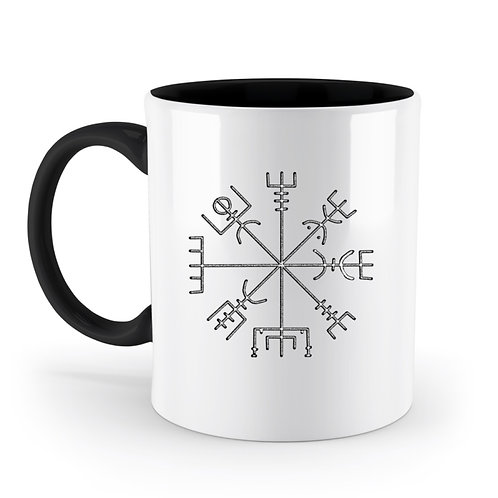 Vegvisir - Runen - Kompass - Viking   - Zweifarbige Tasse