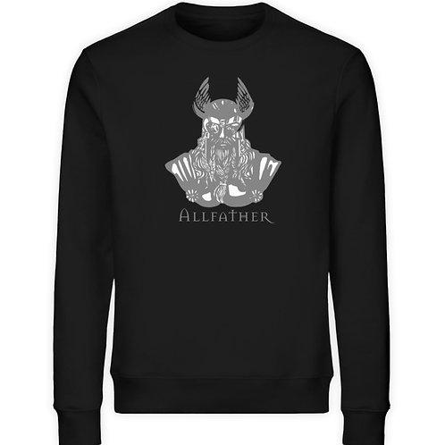 Odin - Viking - Design Grau  - Unisex Organic Sweatshirt