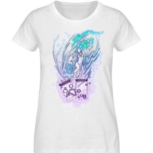 Wicca - Sternzeichen Wassermann  - Damen Premium Organic Shirt