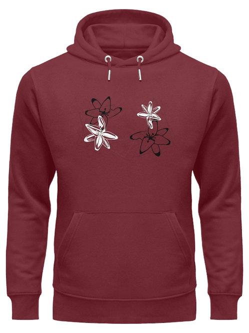 Blumenmotiv Abstrakte Orchideen  - Unisex Organic Hoodie