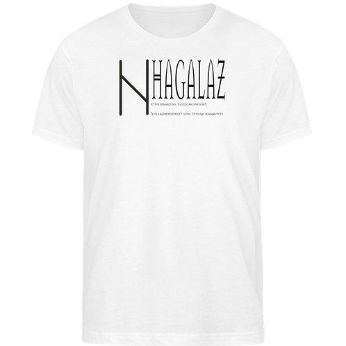 Rune -Hagalaz  - Schriftzug schwarz  - Herren Organic Shirt