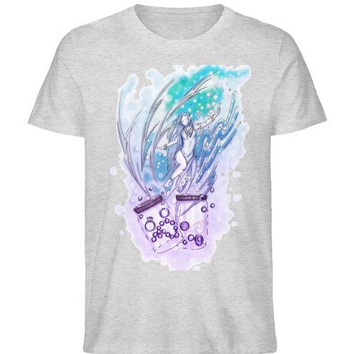 Wicca - Sternzeichen Wassermann  - Herren Organic Melange Shirt