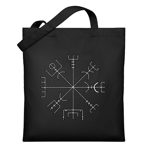 Vegvisir - Runen - Kompass - Viking   - Organic Jutebeutel