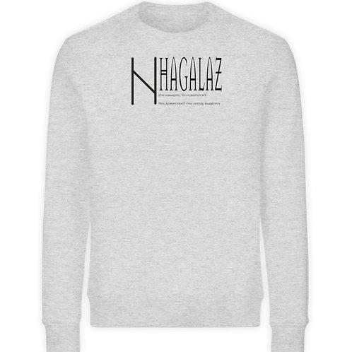 Rune -Hagalaz  - Schriftzug schwarz  - Unisex Organic Sweatshirt