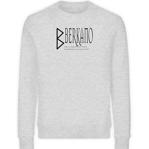 Rune - Berkano  - Schriftzug schwarz  - Unisex Organic Sweatshirt
