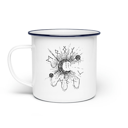 WICCA - MOON MAGIC  - Emaille Tasse