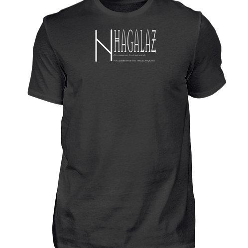 Rune - Hagalaz - Viking - Schriftzug  - Herren Shirt