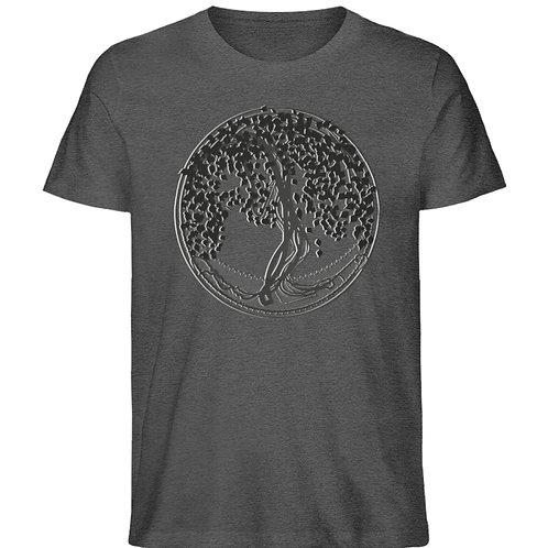 Yggdrasil - Der Weltenbaum  - Herren Organic Melange Shirt