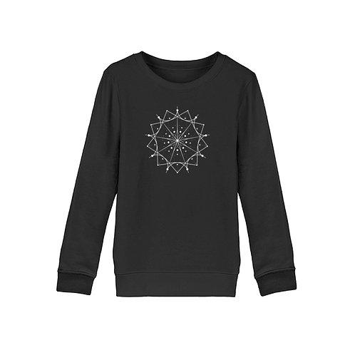 Mandala mit weißen Linien und Punkten  - Organic Kinder Sweatshirt ST/ST