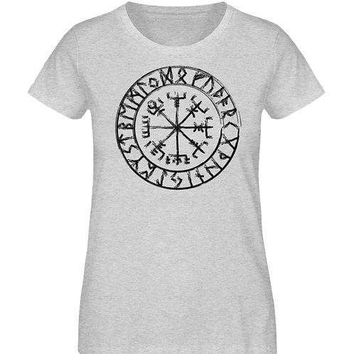 Vegvisir - Viking - Kompass  - Damen Organic Melange Shirt