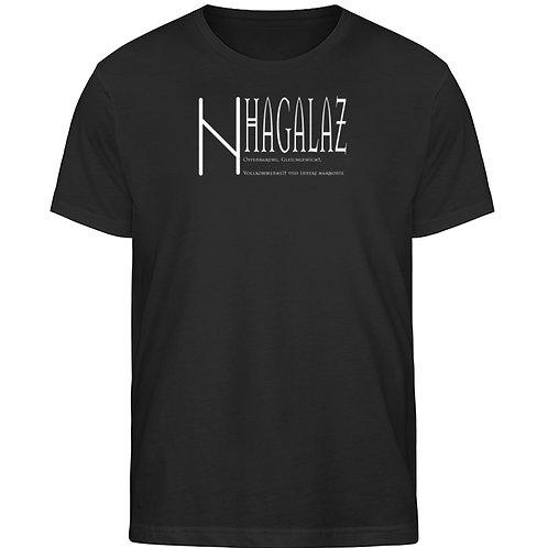 Rune - Hagalaz - Viking - Schriftzug  - Herren Organic Shirt
