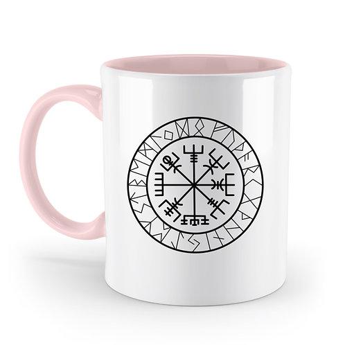Vegvisir - Viking - Kompass  - Zweifarbige Tasse