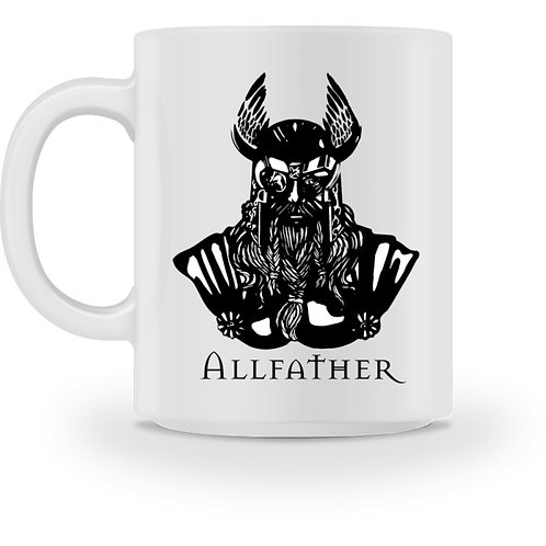 Odin - Viking - Design Schwarz  - Tasse