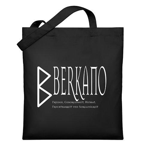 Rune - Berkano - Schriftzug Weiß  - Organic Jutebeutel