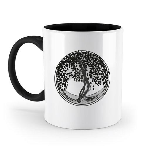 Yggdrasil - Der Weltenbaum  - Zweifarbige Tasse