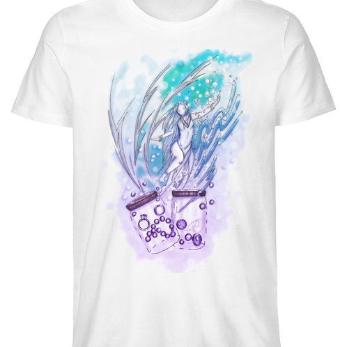 Wicca - Sternzeichen Wassermann  - Herren Premium Organic Shirt