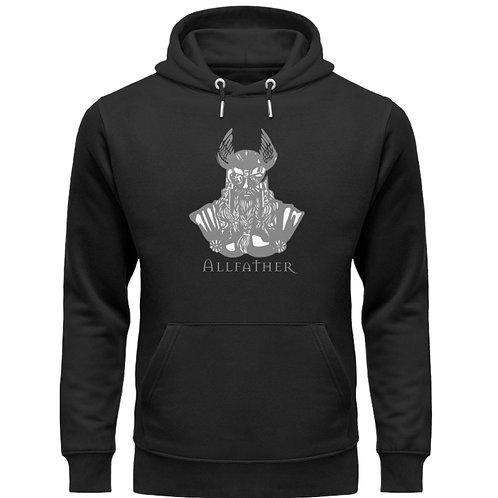 Odin - Viking - Design Grau  - Unisex Organic Hoodie