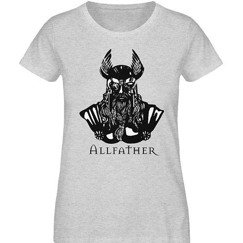 Odin - Viking - Design Schwarz  - Damen Organic Melange Shirt