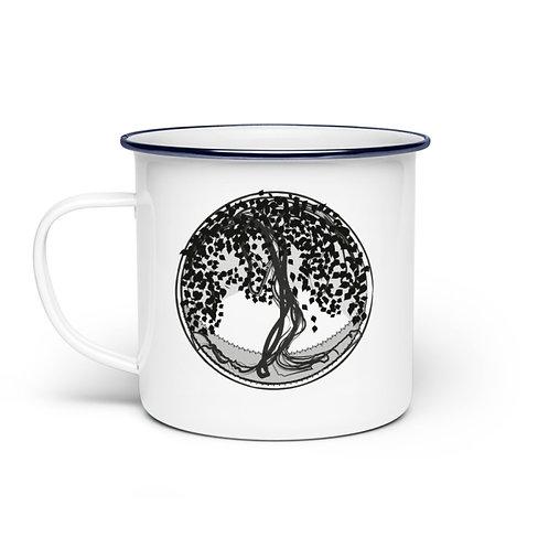 Yggdrasil - Der Weltenbaum  - Emaille Tasse