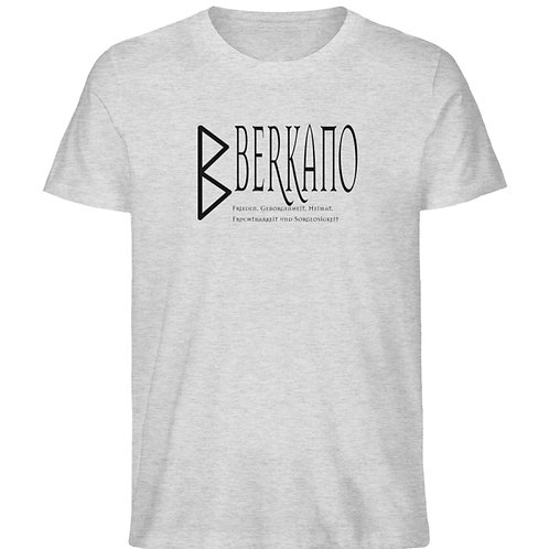 Rune - Berkano  - Schriftzug schwarz  - Herren Organic Melange Shirt