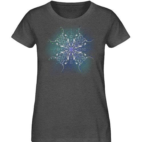 zauberhaftes Fairytail Mandala  - Damen Organic Melange Shirt