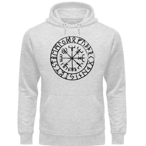 Vegvisir - Viking - Kompass  - Unisex Organic Hoodie