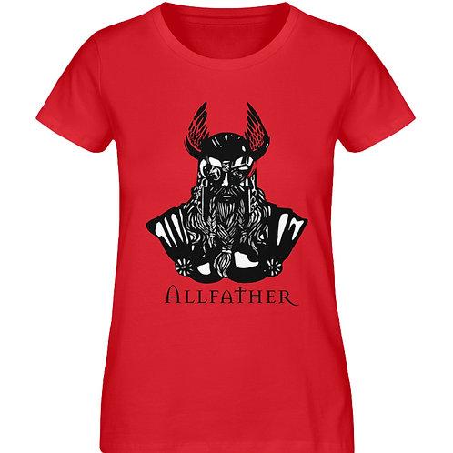 Odin - Viking - Design Schwarz  - Damen Premium Organic Shirt