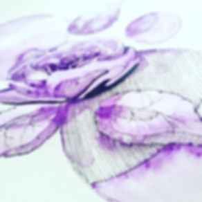 Aquarell mit Finliner in Uni Violett