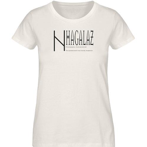 Rune -Hagalaz  - Schriftzug schwarz  - Damen Premium Organic Shirt