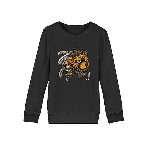 Löwe mit Federn  - Organic Kinder Sweatshirt ST/ST