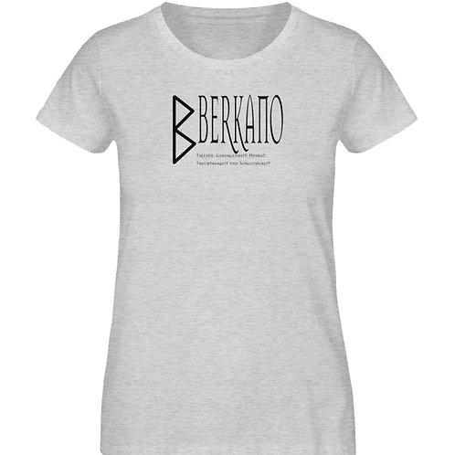 Rune - Berkano  - Schriftzug schwarz  - Damen Organic Melange Shirt