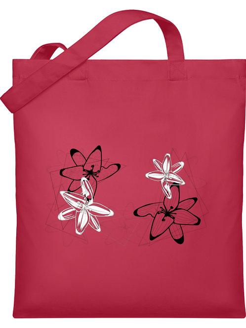 Blumenmotiv Abstrakte Orchideen  - Organic Jutebeutel
