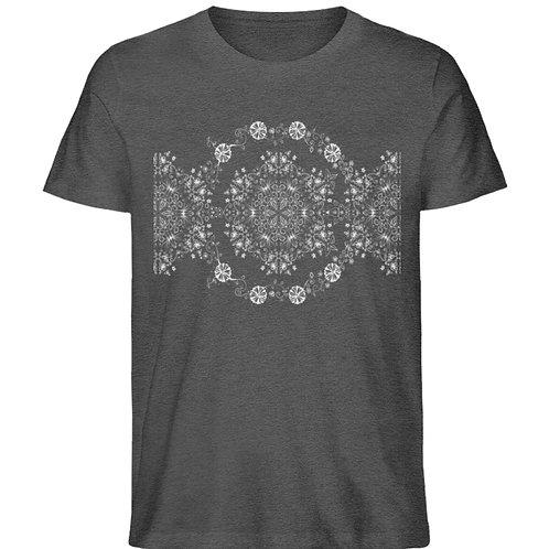 elegantes, florales Blumendesign  - Herren Organic Melange Shirt