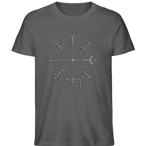 Vegvisir - Runen - Kompass - Viking   - Herren Premium Organic Shirt